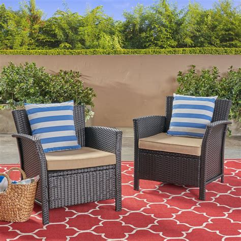 Arianna Patio Chair with Cushions (Set of 2)