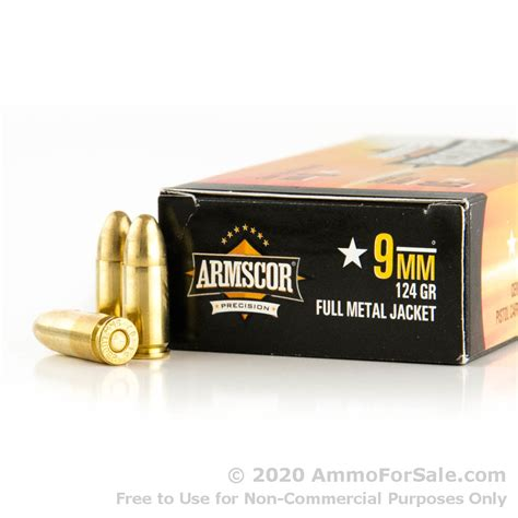 Armscor Ammo 9mm 124gr