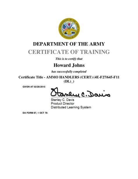 Army Ammo 67 Hazmat Course
