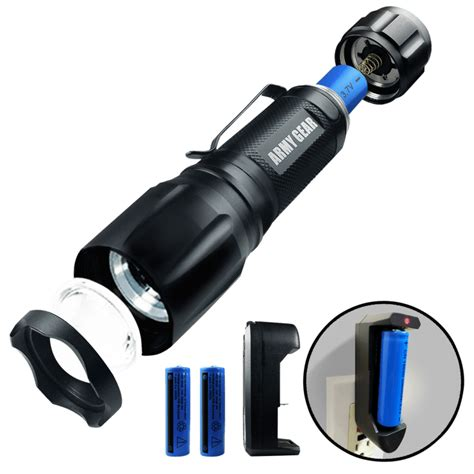 Army Gear Viper Rechargeable Tactical Flashlight Review