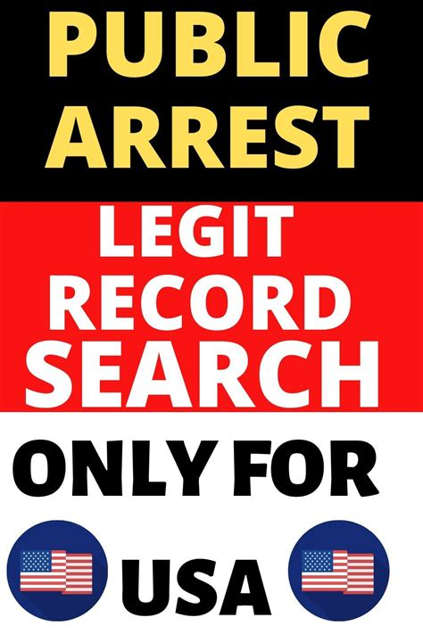 arrest records free to public