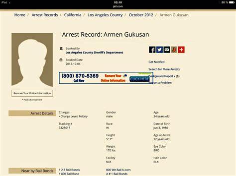 arrest records los angeles
