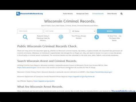 arrest records online wisconsin