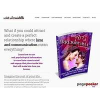 Art of irresistible: how to seduce a man and captivate him forever methods