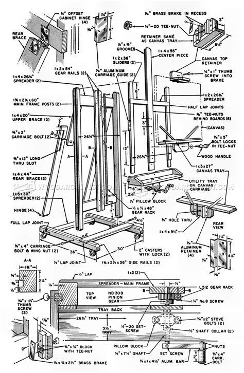 Artist easel woodworking plans Image