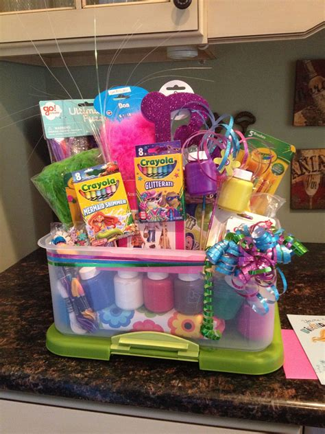 arts and crafts gift basket for adults