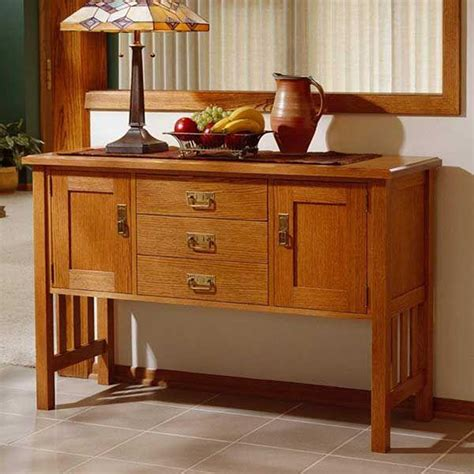 Arts and crafts buffet woodworking plan Image