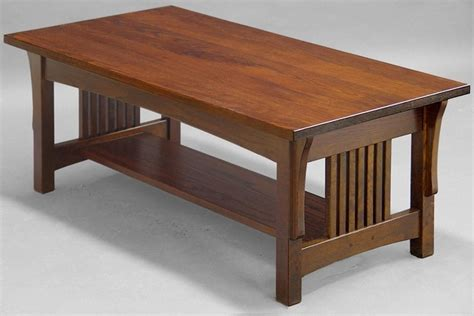 Arts and crafts coffee table plans Image