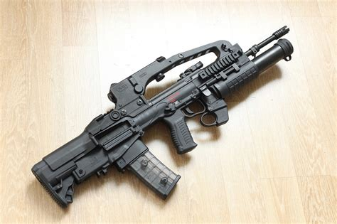 Assault Rifle With Grenade Launcher And Scope