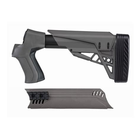 Ati T3 Tactical 6 Position Shotgun Stock Forend Gray For