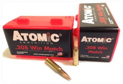 Atomic Ammo 308 Win Match 168gr Nosler Bthp 50pack Utube
