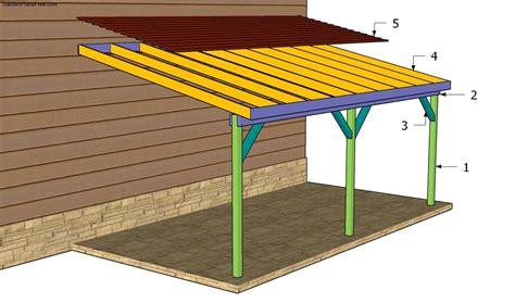 Attached wood carport plans Image