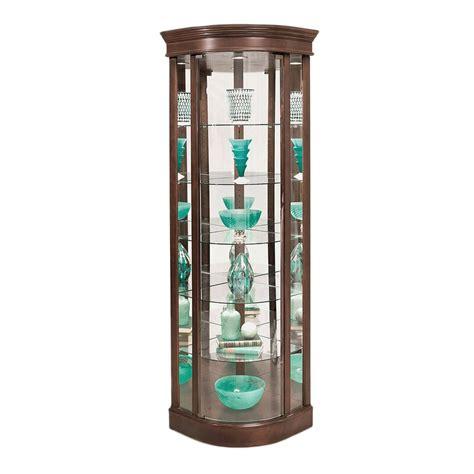 Auberge Lighted Corner Curio Cabinet