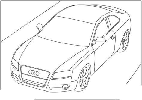 Audi Malvorlage