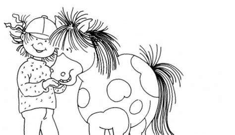 Ausmalbild Conni Pferd