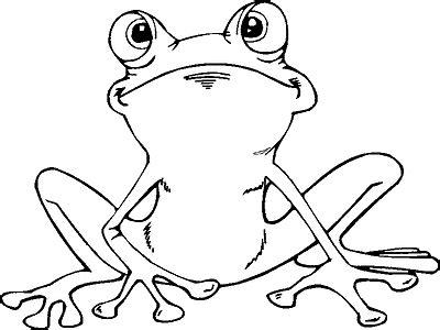 Ausmalbild Frosch Kröte