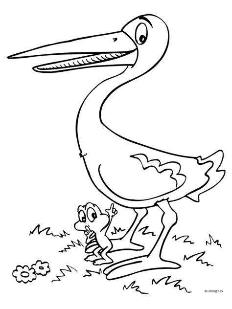 Ausmalbild Frosch Und Storch