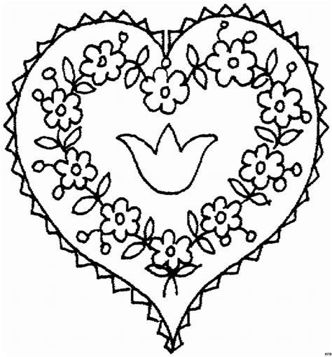 Ausmalbild Herz Blume