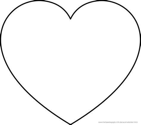 Ausmalbild Herz Groß