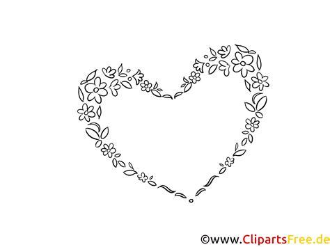 Ausmalbild Herz Hochzeit