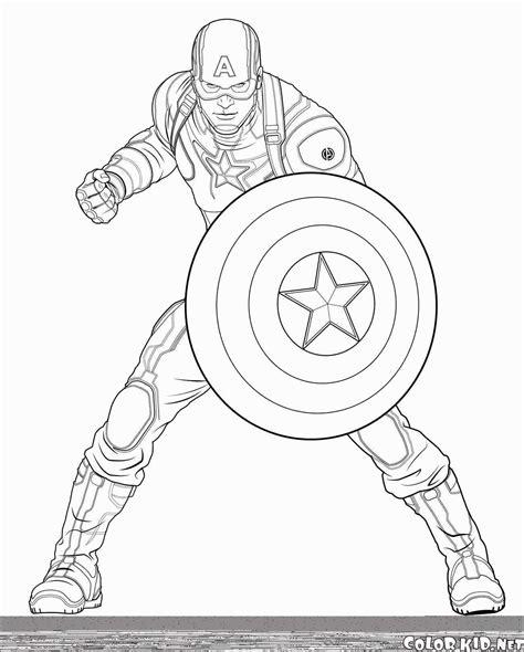 Ausmalbild Marvel Superhelden