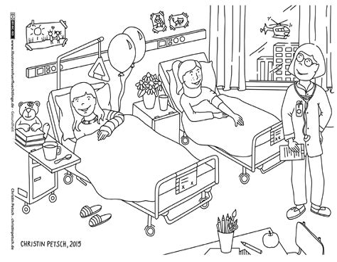 Ausmalbild Playmobil Krankenhaus