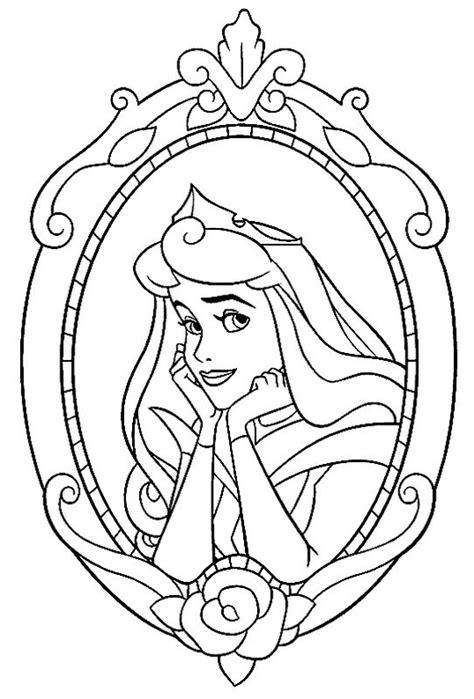 Ausmalbild Prinzessin Aurora