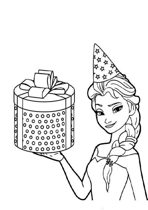 Ausmalbild Prinzessin Geburtstag