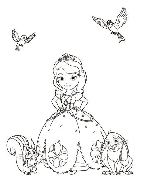 Ausmalbild Prinzessin Sophia