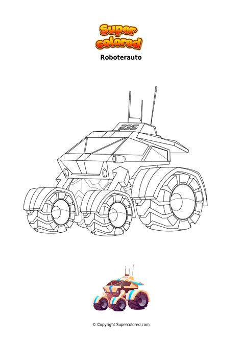 Ausmalbild Roboter Auto