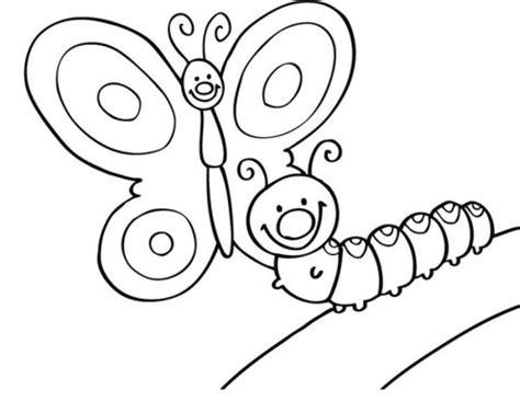 Ausmalbild Schmetterling Raupe