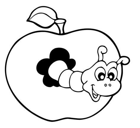 Ausmalbilder Apfel Mit Wurm