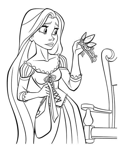 Ausmalbilder Ausdrucken Rapunzel