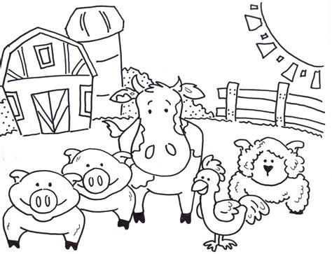 Ausmalbilder Bauernhof Kindergarten