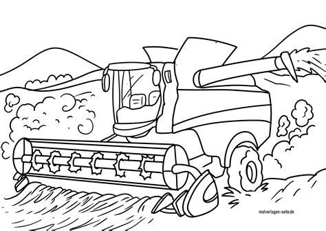 Ausmalbilder Bauernhof Mähdrescher