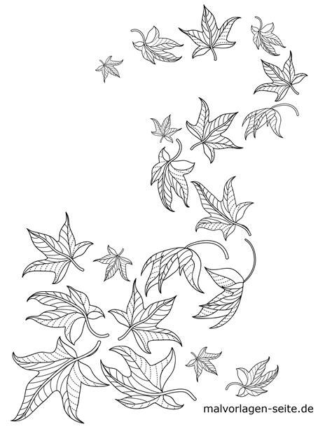 Ausmalbilder Blätter Zum Ausdrucken