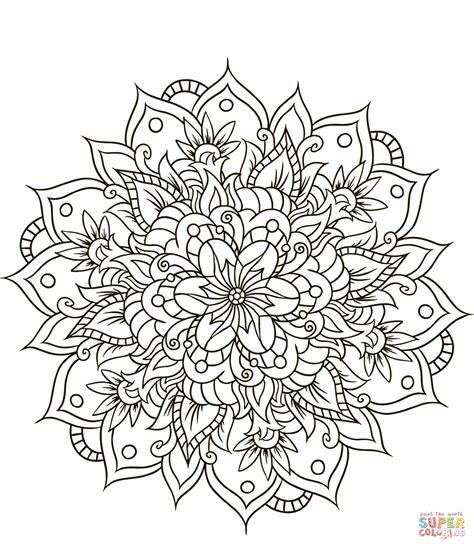 Ausmalbilder Blumen Mandala