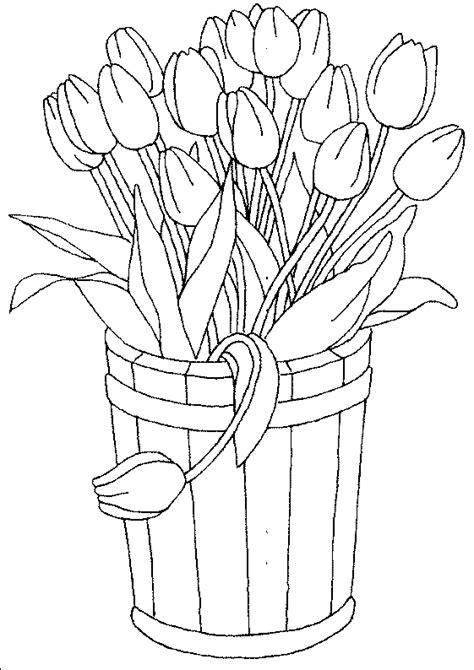 Ausmalbilder Blumen Tulpen