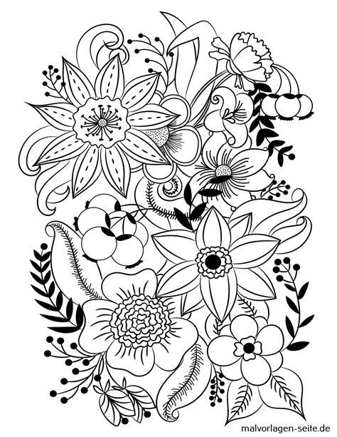 Ausmalbilder Blumenmuster