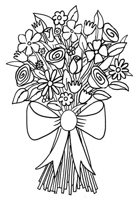 Ausmalbilder Blumenstrauß Rosen