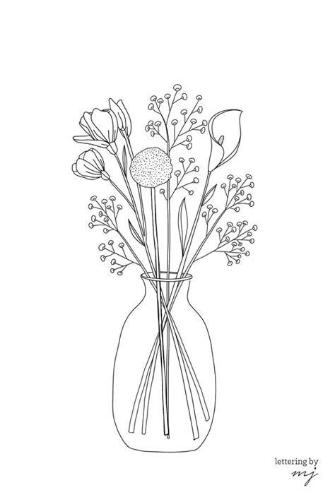 Ausmalbilder Blumenvase