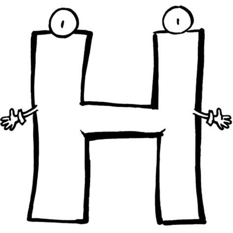Ausmalbilder Buchstaben H