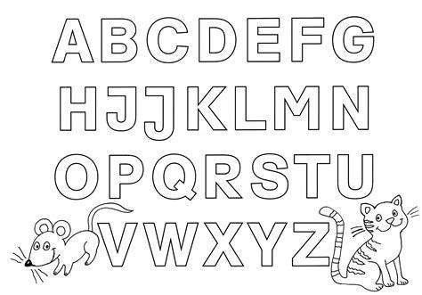 Ausmalbilder Buchstaben Kostenlos