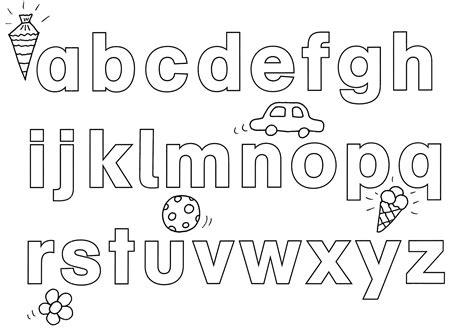 Ausmalbilder Buchstaben Lernen