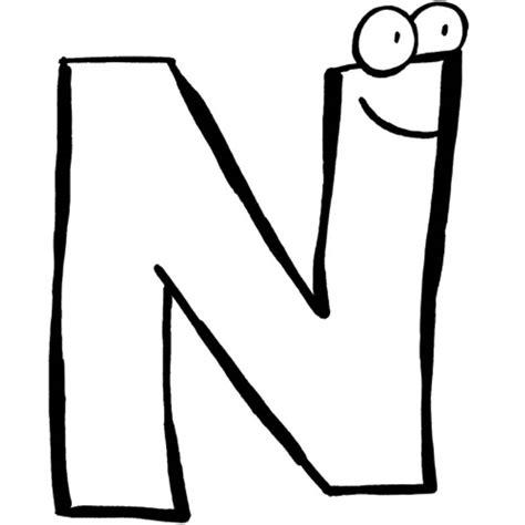 Ausmalbilder Buchstaben N