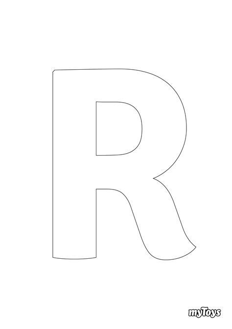 Ausmalbilder Buchstaben R