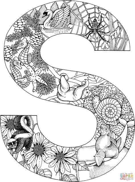 Ausmalbilder Buchstaben S
