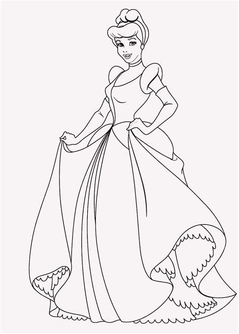 Ausmalbilder Cinderella Drucken