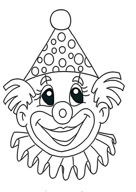 Ausmalbilder Clown Gesichter