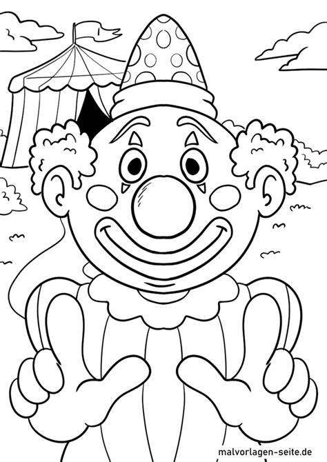 Ausmalbilder Clown Kostenlos Ausdrucken